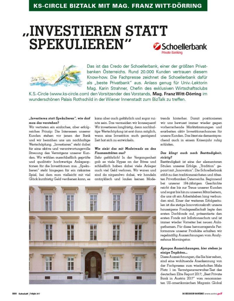 biz_talk_schoellerbank EXTRAGOLF April 2017